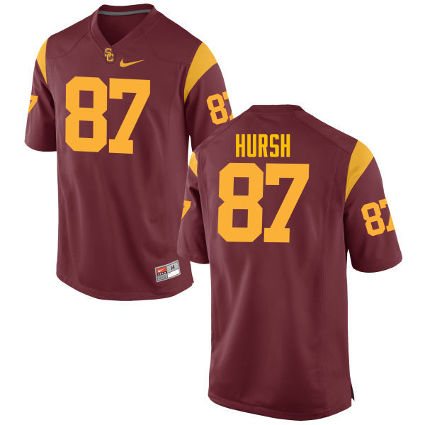 Men #87 Alec Hursh USC Trojans College Football Jerseys-Cardinal