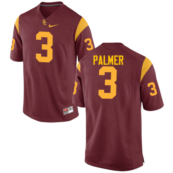 Men #3 Carson Palmer USC Trojans College Football Jerseys-Cardinal