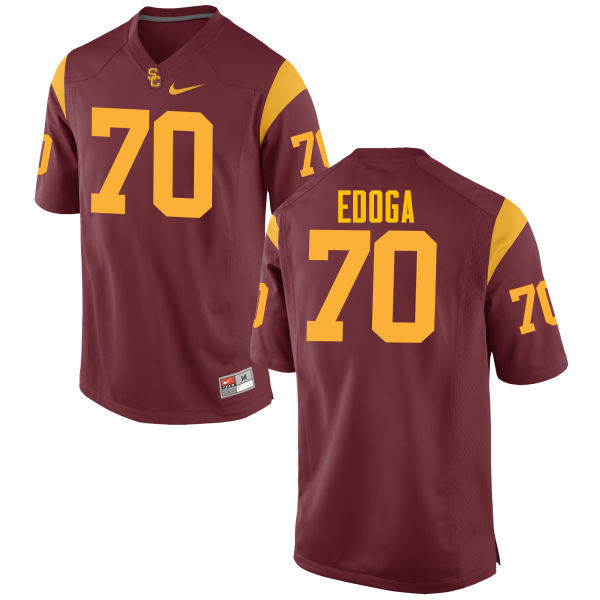 Men #70 Chuma Edoga USC Trojans College Football Jerseys-Cardinal
