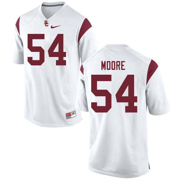 Men #54 Clyde Moore USC Trojans College Football Jerseys Sale-White