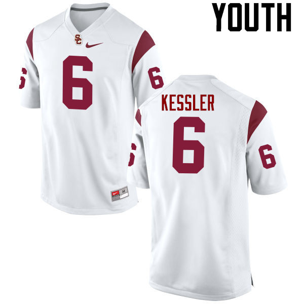 Youth #6 Cody Kessler USC Trojans College Football Jerseys-White