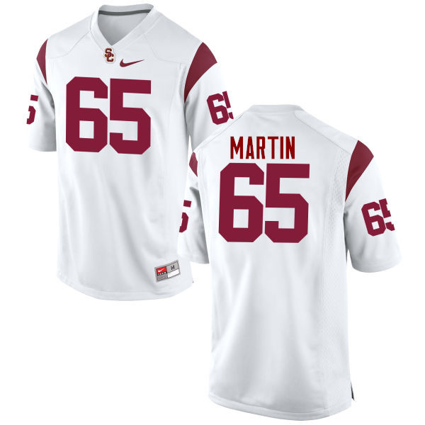 Men #65 Frank Martin II USC Trojans College Football Jerseys-White