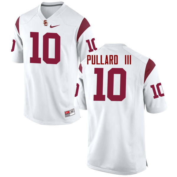 Men #10 Hayes Pullard III USC Trojans College Football Jerseys-White