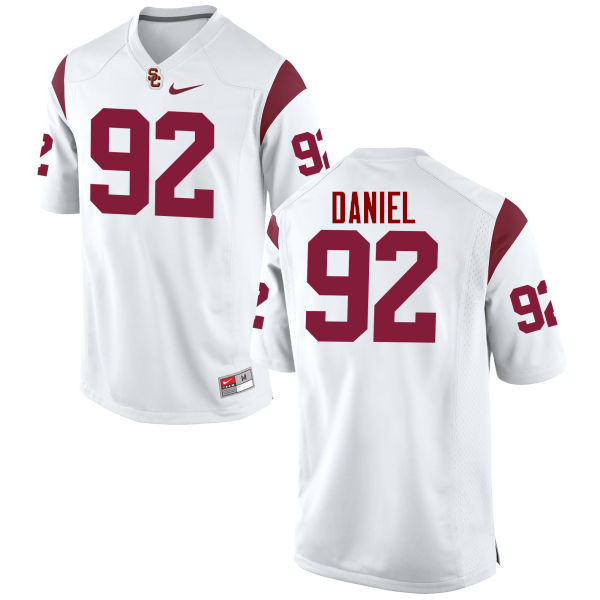 Men #92 Jacob Daniel USC Trojans College Football Jerseys-White